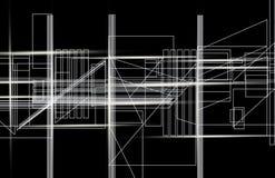 Fond technologique abstrait, 3d illustration stock