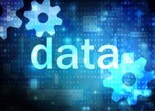 Fond technologique bleu de données Images stock