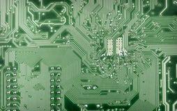 Fond technologique de plaque verte d'ordinateur Photo libre de droits