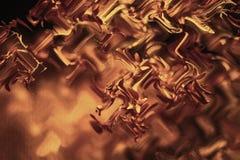 Fond teinté par style brillant d'or de bokeh de résumé Fond rougeoyant avec le style de bokeh pour des salutations saisonnières photos stock