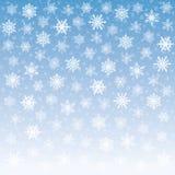 Fond tendre de flocons de neige images stock