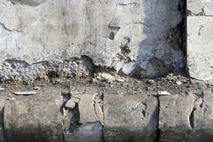 Fond, texture abstraite d'un mur des pierres Photo libre de droits