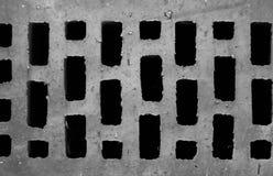 Fond, texture, brique avec des trous images libres de droits