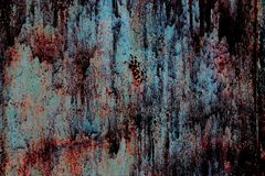 Fond, texture de vieux fer rouillé dans le style d'horreur photographie stock