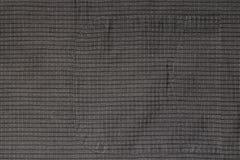 Fond, texture de vieux tissu de coton dans une cage avec une poche cousue photographie stock libre de droits