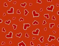 Fond/texture rouges de coeurs photos libres de droits