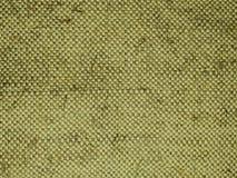 Fond Texture Tissu rugueux de chanvre Couleur verte naturelle Photographie stock