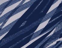 Fond texturisé abstrait avec les modèles géométriques dans des tons bleus Photos stock