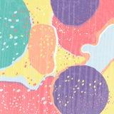 Fond texturisé abstrait créatif avec beaucoup de taches de couleur Différentes formes Style de tendance Barbouillage coloré illustration stock