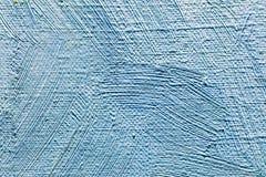 Fond texturisé artistique de toile avec le brushst bleu expressif photographie stock