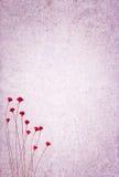 Fond texturisé avec des fleurs Photos libres de droits