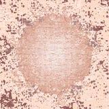 Fond texturisé brun beige avec le cercle et les taches Wal rugueux Image libre de droits