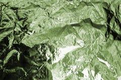 Fond texturisé chiffonné d'aluminium vert, illustration abstraite de vue supérieure de paysage de montagne, modèle kaki de couleu image stock