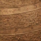 Fond texturisé de bronze chinois antique Image libre de droits