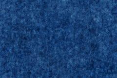 Fond texturisé de couleur bleu-foncé de tissu mou Photographie stock