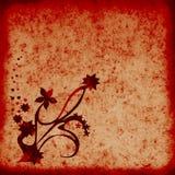 Fond texturisé de grunge florale Photo stock