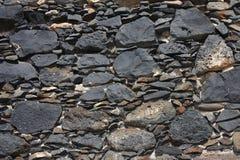 Fond texturisé de mur en pierre Image libre de droits
