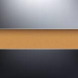Fond texturisé de papier de carton de vecteur Photographie stock libre de droits