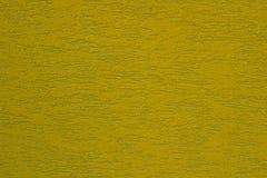 Fond texturisé de stuc coloré par moutarde jaune vert clair Images libres de droits
