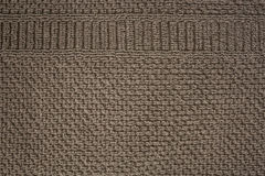 Fond texturisé de tissu avec le modèle brun d'écran Photos libres de droits