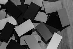Fond texturisé de tuiles en bois noires et blanches Photographie stock