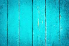 Fond texturisé de turquoise en bois Photo libre de droits