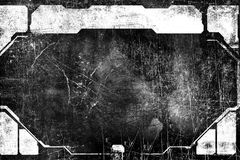 Fond texturisé de vintage industriel grunge abstrait Surface d'éraflure Trame grunge Frontière sale Photographie stock libre de droits