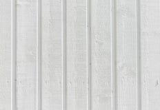 Fond texturisé du mur en bois blanc Images stock