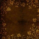 Fond texturisé floral d'or de Brown illustration de vecteur