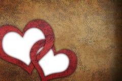 Fond texturisé grunge d'amour Photographie stock libre de droits