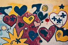 Fond texturisé grunge d'amour Image libre de droits