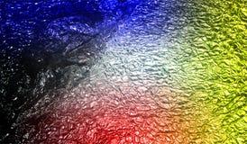 Fond texturisé métallique brillant ombragé multicolore de résumé avec des effets de la lumière Fond, papier peint images stock