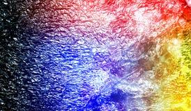 Fond texturisé métallique brillant ombragé multicolore de résumé avec des effets de la lumière Fond, papier peint photo stock