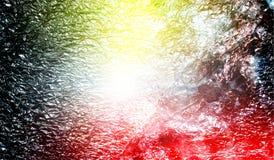 Fond texturisé métallique brillant ombragé multicolore de résumé avec des effets de la lumière Fond, papier peint photos libres de droits