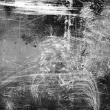 Fond texturisé noir et blanc avec les fuites et le grain légers image stock