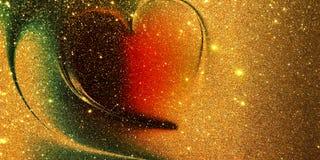 Fond texturisé par coeur de scintillement images stock