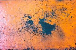 Fond texturisé rustique grunge orange en métal photographie stock libre de droits