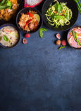 Fond thaïlandais de nourriture photos stock