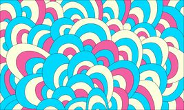 Fond tiré par la main abstrait coloré d'ondes Image libre de droits