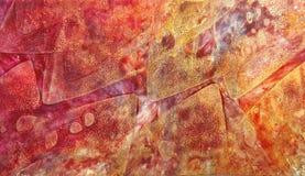 Fond tiré par la main abstrait de peinture Images libres de droits