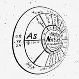 Fond tiré par la main d'astrologie Photos libres de droits