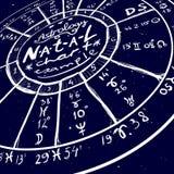 Fond tiré par la main d'astrologie Photographie stock