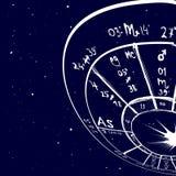 Fond tiré par la main d'astrologie Photos stock