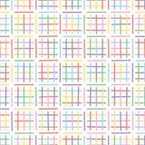 Fond tiré par la main de Criss Cross Maze Vector Pattern illustration libre de droits