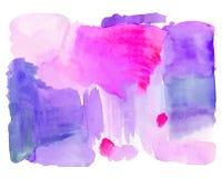 Fond tiré par la main de rose d'aquarelle Photos libres de droits