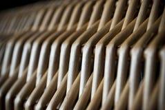 Fond tissé brun en bois naturel ou texture de panier en osier photo stock