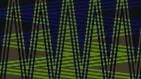 Fond très beau et original avec le zigzag de couleurs bleu-foncé et vertes ! Photographie stock libre de droits