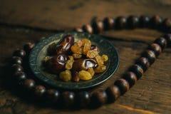 Fond traditionnel de photo de l'Islam de Ramadan avec le foyer serré Photo libre de droits
