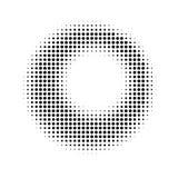 Fond tramé abstrait de cercle Image libre de droits