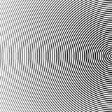 Fond tramé abstrait de cercle L'image tramée raye le vecteur Rayures noires sur le fond blanc Photographie stock